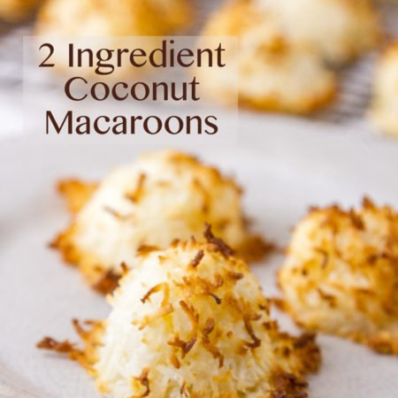 2 Ingredient Coconut Macaroons Sweet coconut filled macaroon cookies, with just two ingredients! And so easy to make!