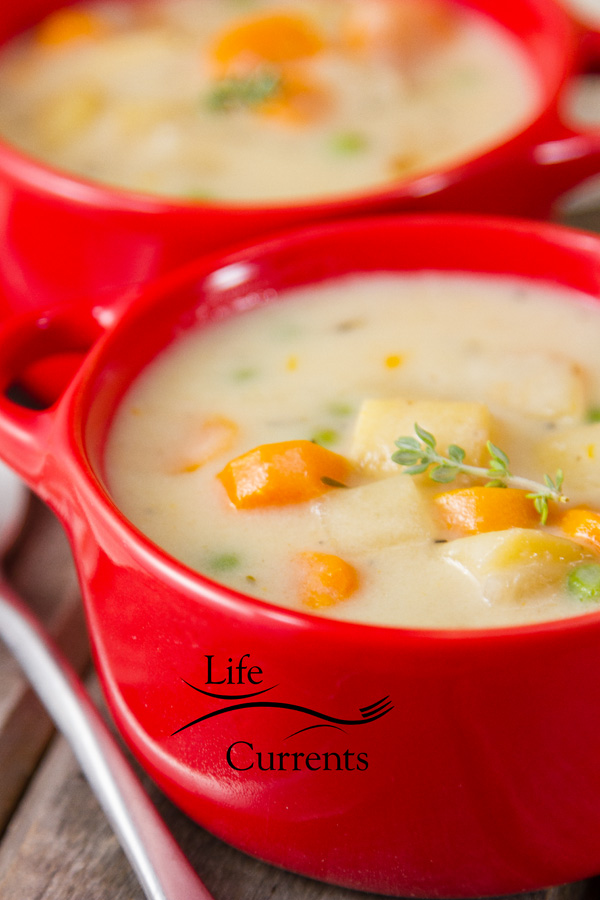 Slow Cooker / Crock Pot Vegetarian Pot Pie