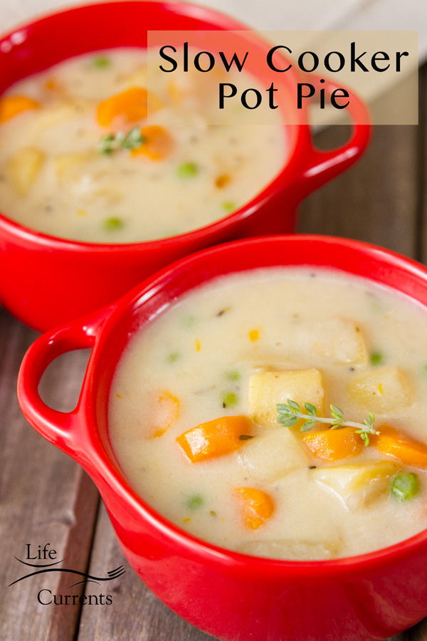 Slow Cooker Vegetarian Pot Pie - a crock pot version of one of my most popular recipes