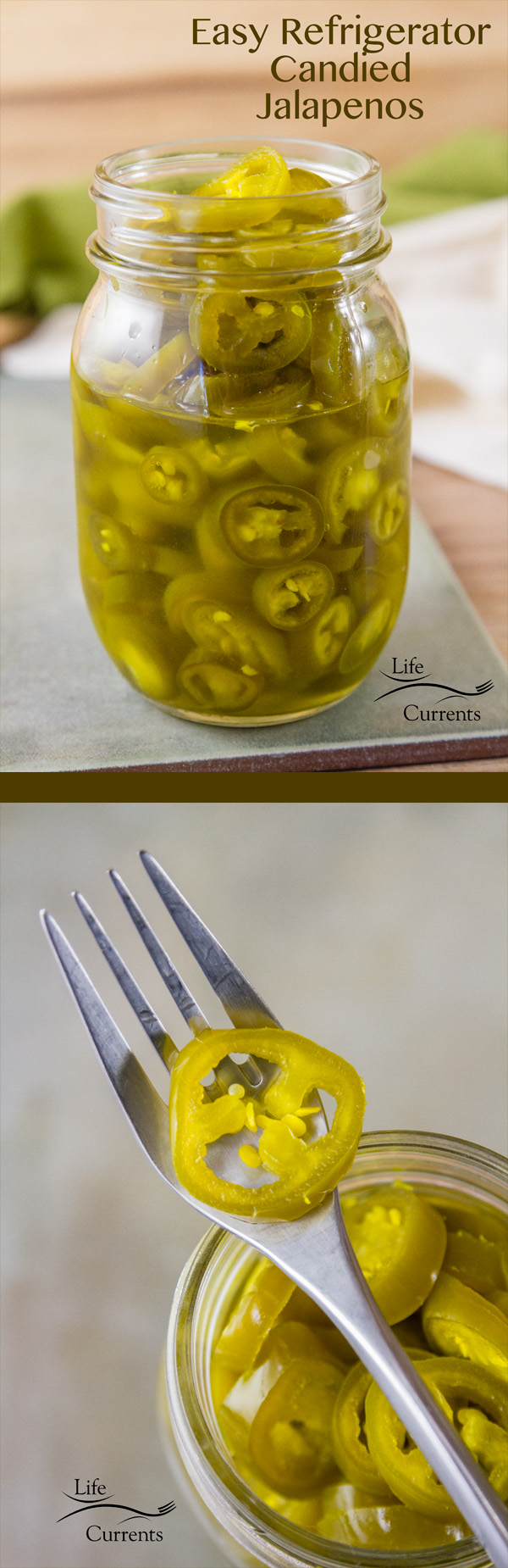 2 ingredient Easy Refrigerator Candied Jalapenos sweet, spicy, and addictive