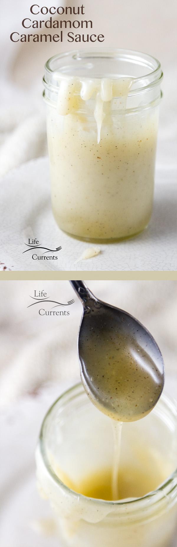 Coconut Cardamom Caramel Sauce - easy to make, and can be vegan #caramel #vegan #coconut #sauce