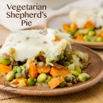 Vegetarian Shepherd's Pie is a great healthy veggie loaded comfort food dish.