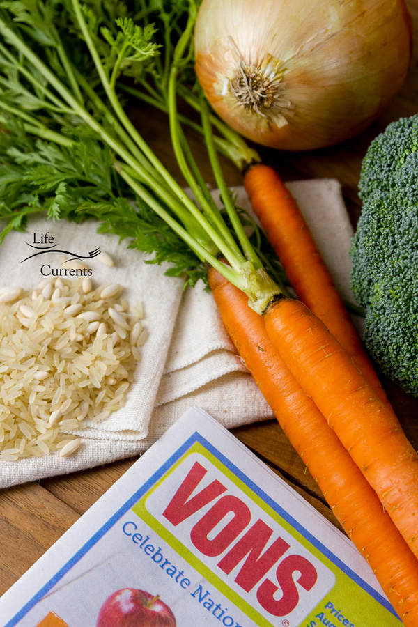 Vegetable Rice Casserole and the Stock Up Sale at Vons