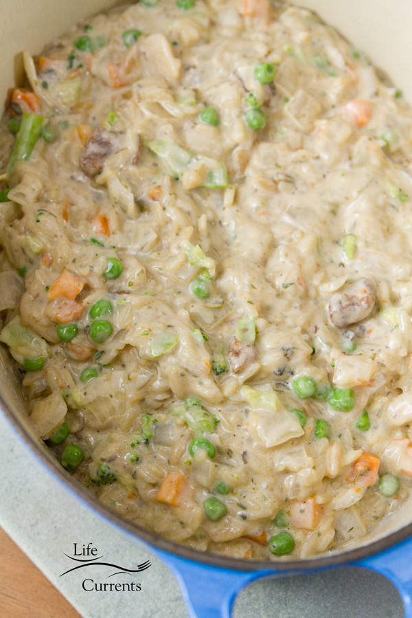 Vegetable Rice Casserole Mix in other ingredients, and top with the cheese
