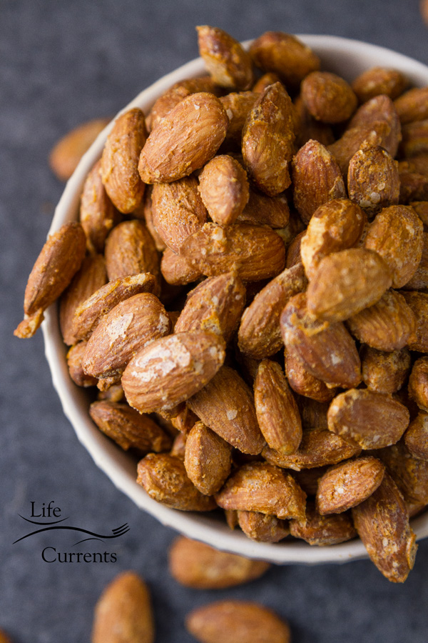 Smoked Garlic Almonds - people will naturally gravitate towards this healthy nibble