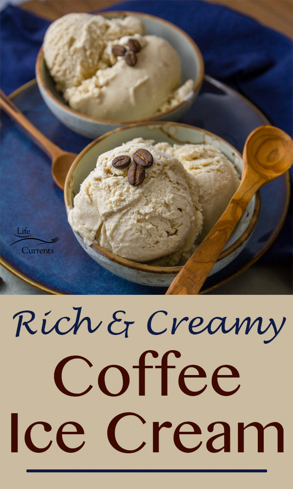 Homemade Coffee Ice Cream is so rich and creamy!