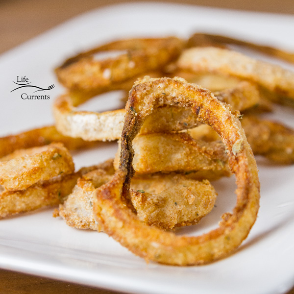 Onion Rings stacked up