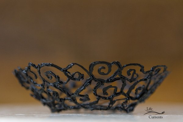How to Make a Scroll Bowl using the 3Doodler - the finished bowl
