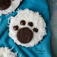 Polar Bear Paw Print Cookies