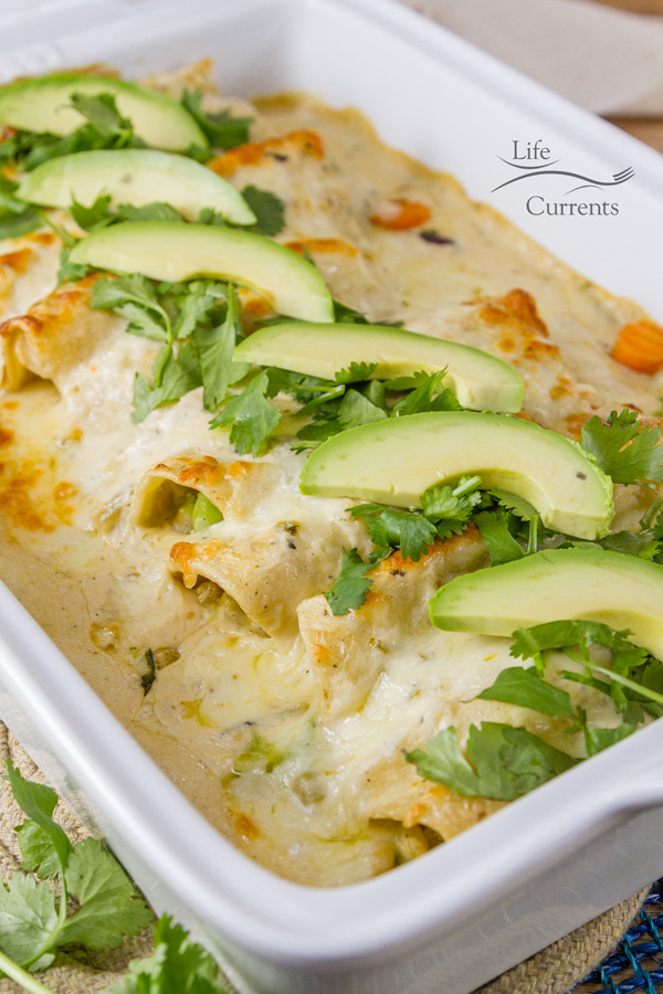 Creamy Verde Fiesta Enchiladas Recipe 30 minute meal idea