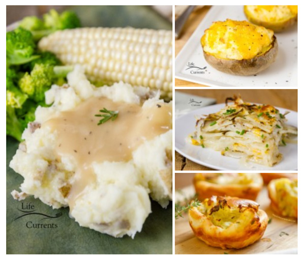 How to Host The Best Vegetarian Thanksgiving, and, of course, these menu options will be great at any holiday gathering like Christmas or Easter. Potato Side Dishes