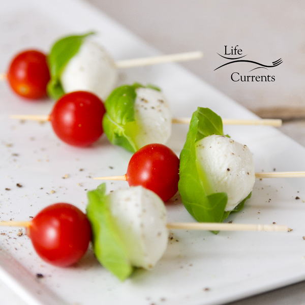 And this Shrimp Caprese Skewers appetizer will work at any party, from a New Year's Eve party to a football tailgate party to a birthday party.