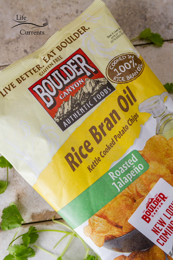 Roasted Jalapeño and Avocado Hummus & Boulder Canyon chips have satisfying, delicious flavors