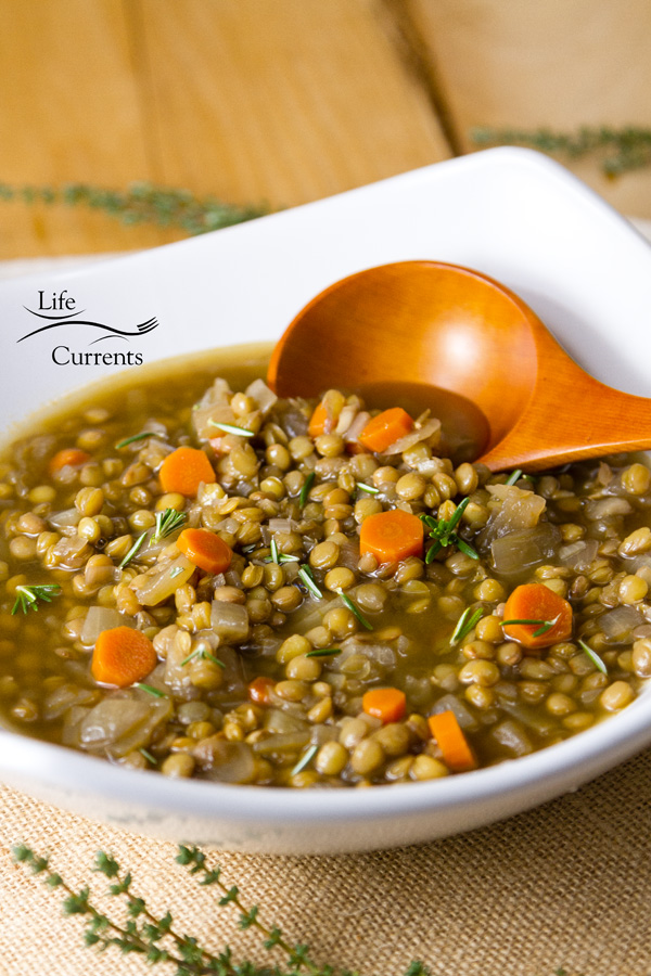 Homemade lentil soup is more nutritious and flavorful than store-bought soups. It's also low fat, and full of veggies and flavor.