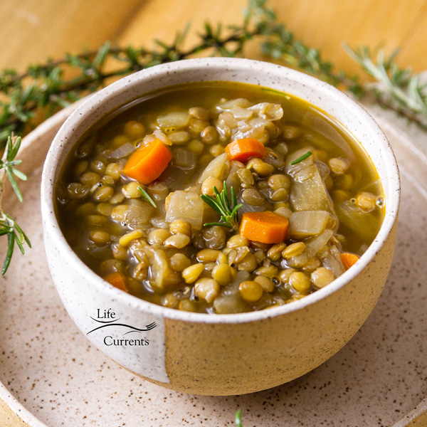gluten-free, fiber-rich, vegan Lentil Soup is one of my favorite easy to make soups