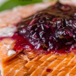 Salmon En Papillote with Blueberry Sauce