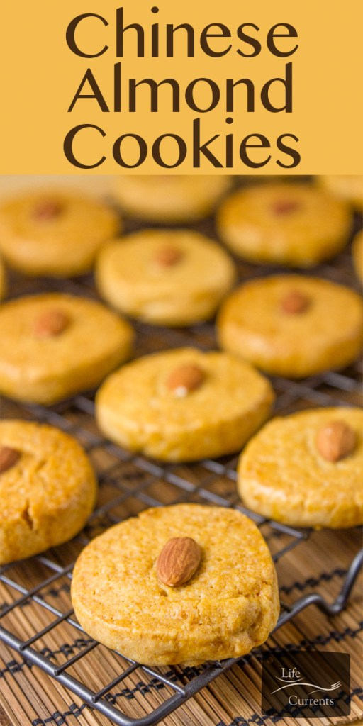 These delicious & traditional Chinese Almond Cookies are dense, sandy, and crunchy.