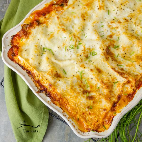 Vegetarian Vegetable Lasagna Recipe - you won't miss the meat.