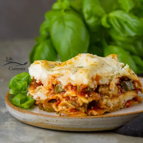 Vegetarian Vegetable Lasagna Recipe - Whether you're doing meatless Monday, or just getting dinner on the table, this great casserole that's filled with perfectly cooked veggies will make everyone in happy, even the meat eaters in your family.