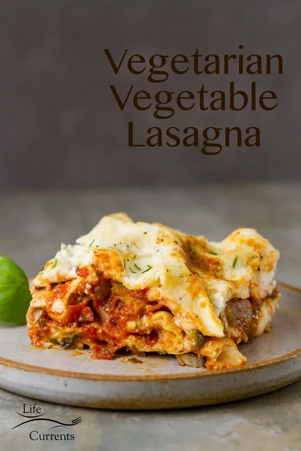 This beautiful veggie filled Vegetarian Vegetable Lasagna Recipe is so good, and a delicious way to get your daily veggies in.