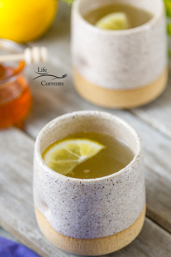 The Honey Lemon Cold and Flu Remedy Drink is a tasty natural and healthy way to feel better soon!