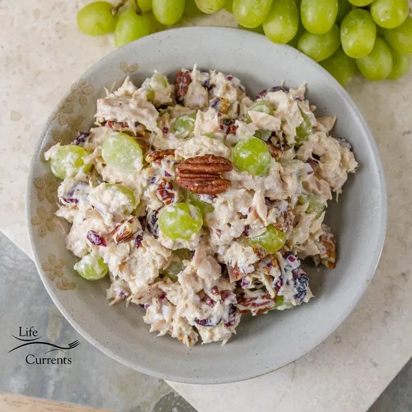 Cranberry Pecan Tuna Salad -  It's perfect for a special brunch, luncheon, baby shower, bridal shower, or just because.