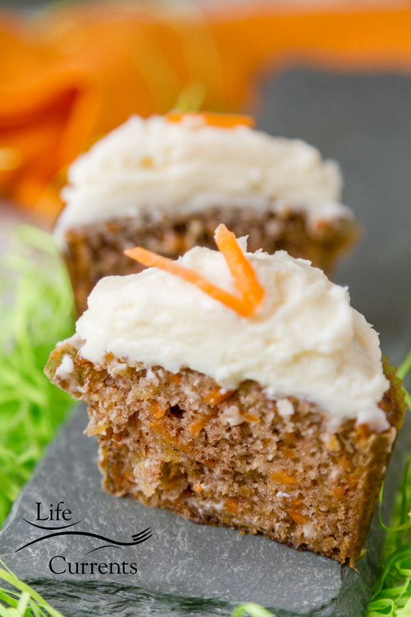This recipe for Carrot Cake Cupcakes with Cream Cheese Frosting makes a moist and tender cake with lots of flavor. It's also lighter in calories than most