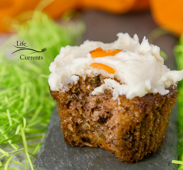Carrot Cake Cupcakes with Cream Cheese Frosting - These cupcakes are packed with grated carrot, shredded coconut, and pecans (walnuts would also work well in the cake). The coconut is a unique addition that really adds to the recipe.