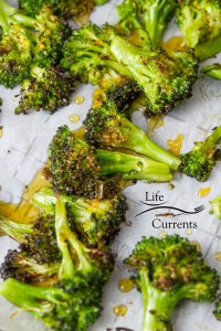 Honey Orange Roasted Broccoli Recipe – deep roasted broccoli drizzled with sweet honey orange sauce