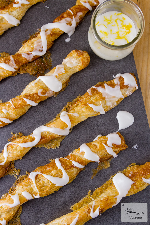 Lemon Puff Pastry Sticks Serve them with extra lemon icing for dipping if desired.