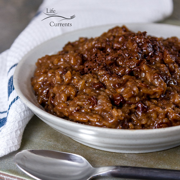 Dark Chocolate Easy Rice Pudding Recipe