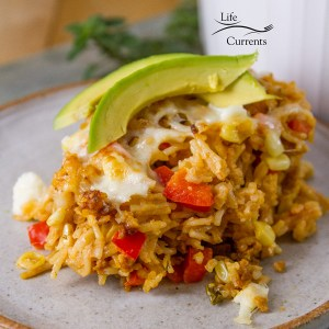 Cheesy Spanish Rice Casserole recipe – Mexican flavored rice casserole is a hit with my family. They have asked for it several times. And, I love how easy it is to make!