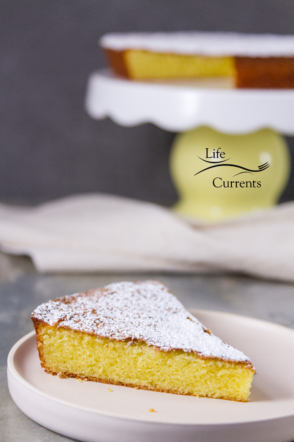Almond Cake {with a gluten-free option} You'd never guess it's made with finely ground almonds.