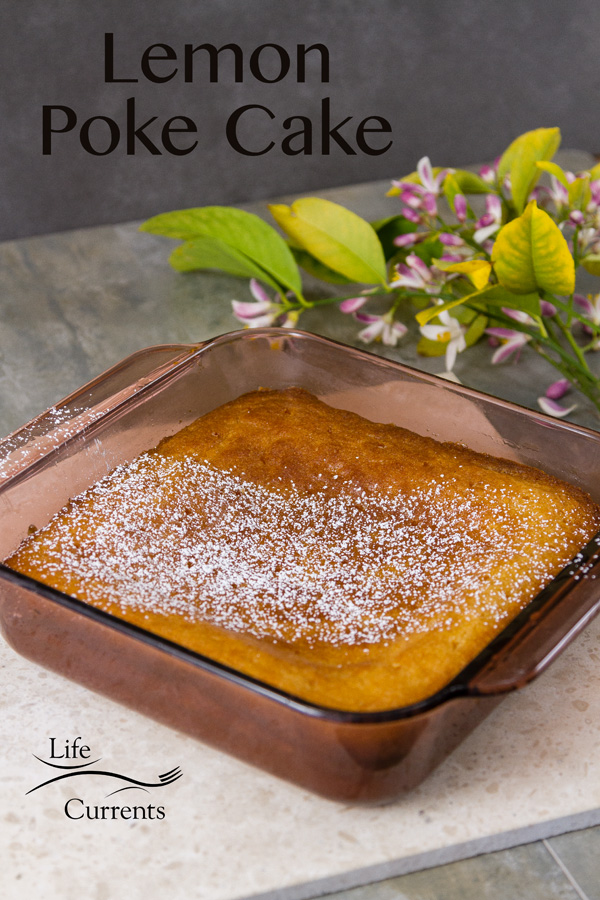 Lemon Poke Cake - the ingredients are all simple. Nothing complicated. And no boxes of Jell-o or pudding to be found in this recipe.