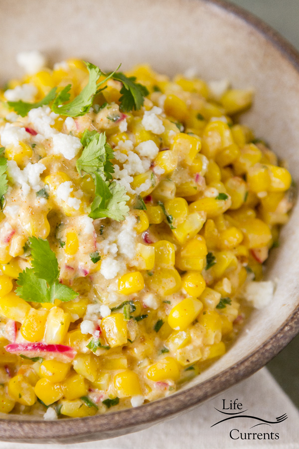 Shrimp and Mexican Street Corn Bowl - easy to make and Mexican Street Corn Recipe esquites