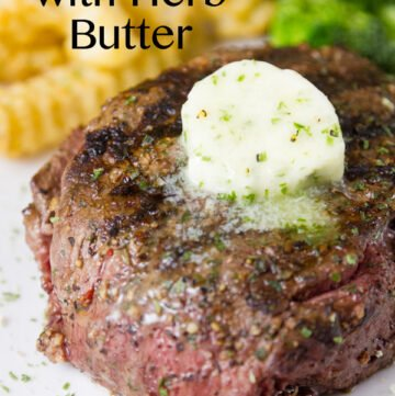 This Grilled Steak with Herb Butter and Spice Rub is the perfect summer grilling experience. Delicious and really easy to grill!