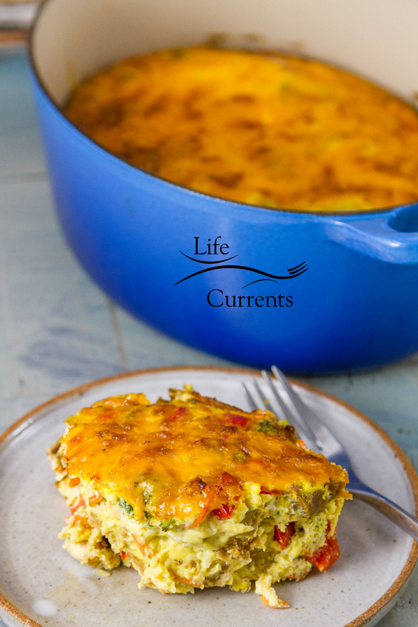 Sausage and Veggie Breakfast Egg Casserole Recipe I love making this casserole and heating up the leftovers for a quick weekday breakfast.