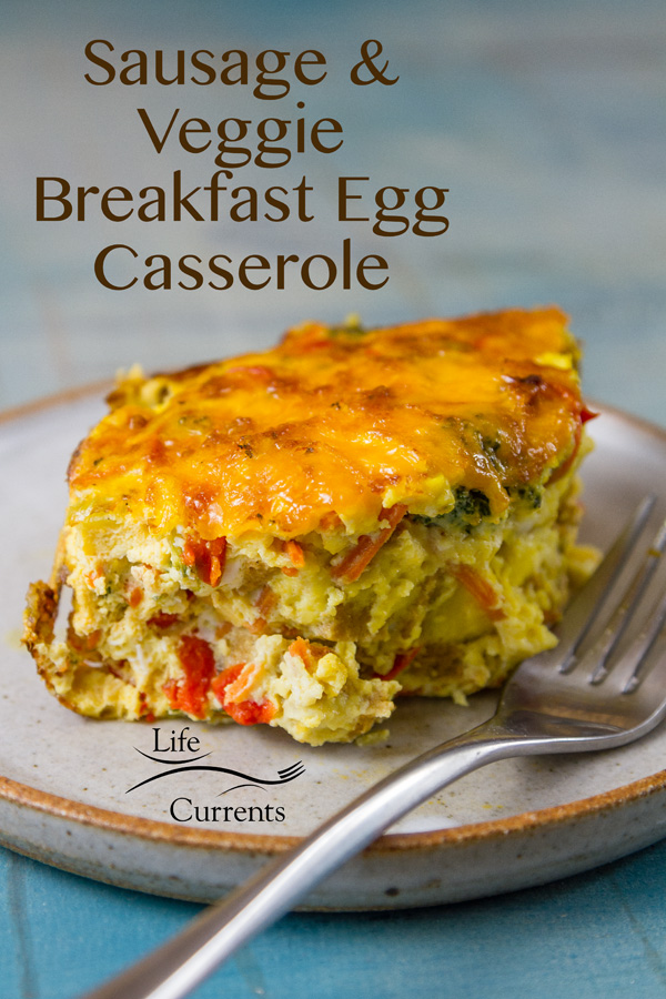 Sausage and Veggie Breakfast Egg Casserole Delicious and easy to make breakfast casserole that's right at home at a special holiday brunch like Christmas or Easter, as well as any regular weekday.