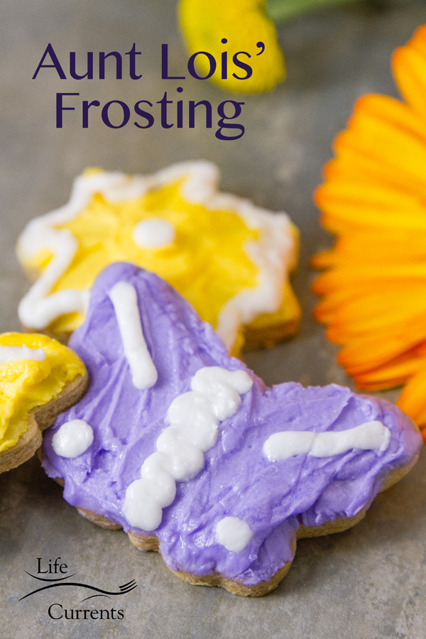 Aunt Lois' Frosting Recipe - any color you want