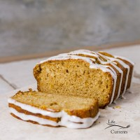 Orange Marmalade Bread with Maple Icing