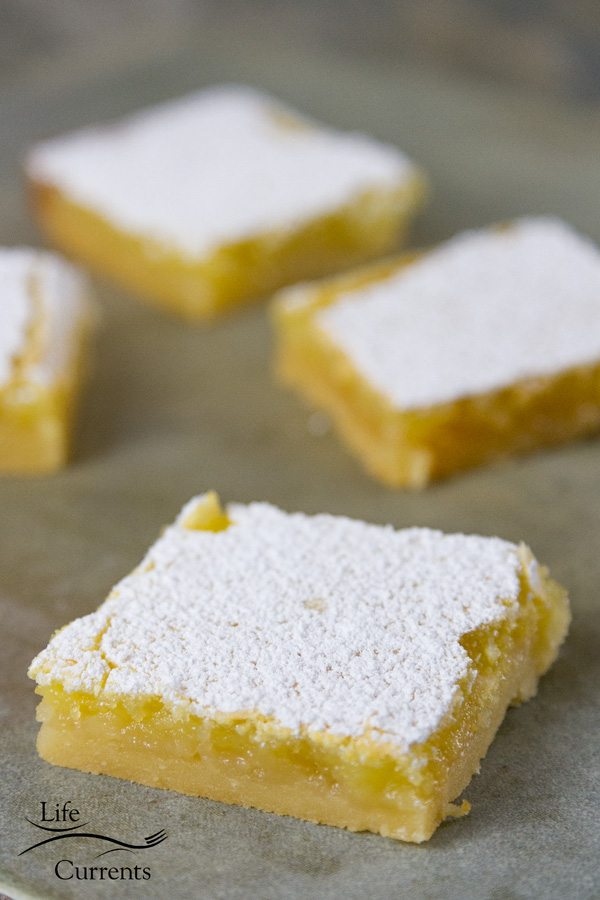Lemon Bars – I've been making this recipe for years because they are delicious and easy to make
