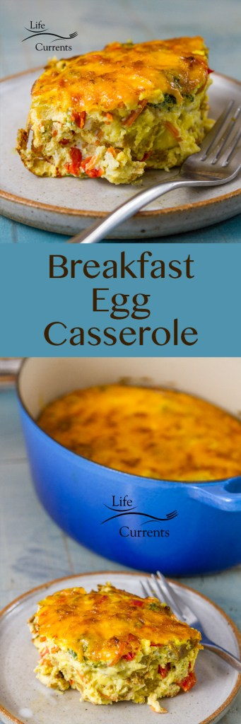 Sausage and Veggie Breakfast Egg Casserole Delicious and easy to make breakfast casserole that's right at home at a special holiday brunch like Christmas or #EasterBrunchWeek