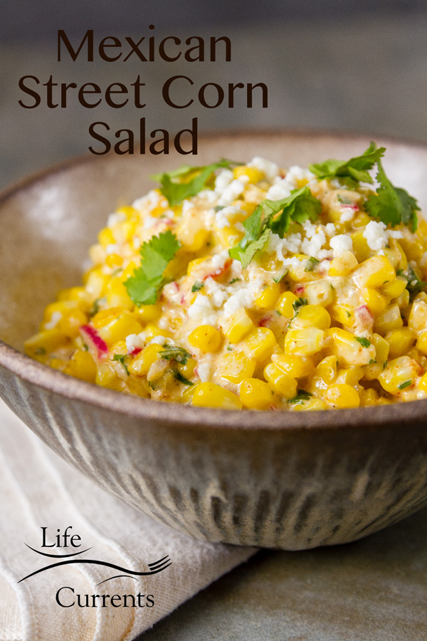 Mexican Street Corn Salad (esquites) can be made year-round, inside the house without a grill, using frozen corn. Super easy!