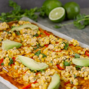 Mexican Street Corn Pizza Recipe - an easy weeknight meal that will leave the family happy