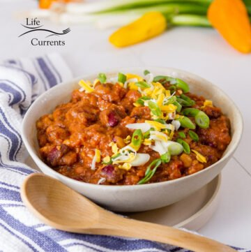 square crop of Crock Pot Vegetarian Chili - a healthy delicious vegan chili