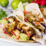 close up of Air Fryer Chili-Lime Cod Fish Tacos