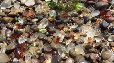 sea glass found at Glass Beach, Fort Bragg