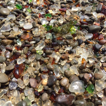 sea glass found at Glass Beach, Fort Bragg