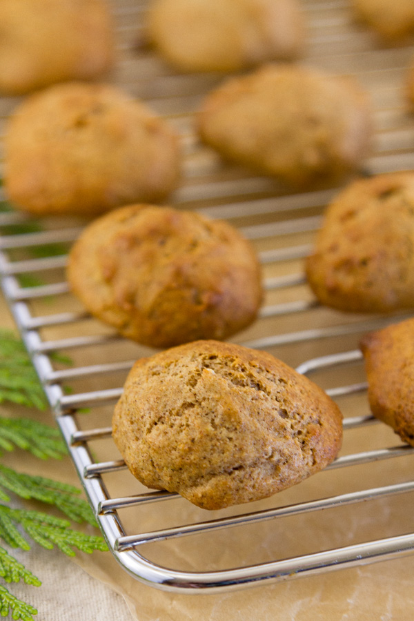 spice cake-cookies from the oven and cooling on a rack