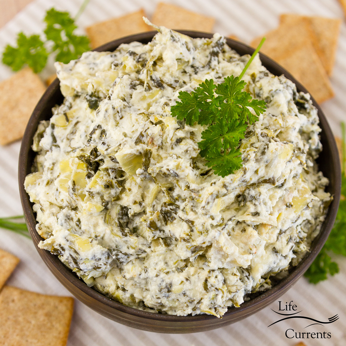 Spinach Artichoke Dip {Crock Pot or Oven} - Life Currents